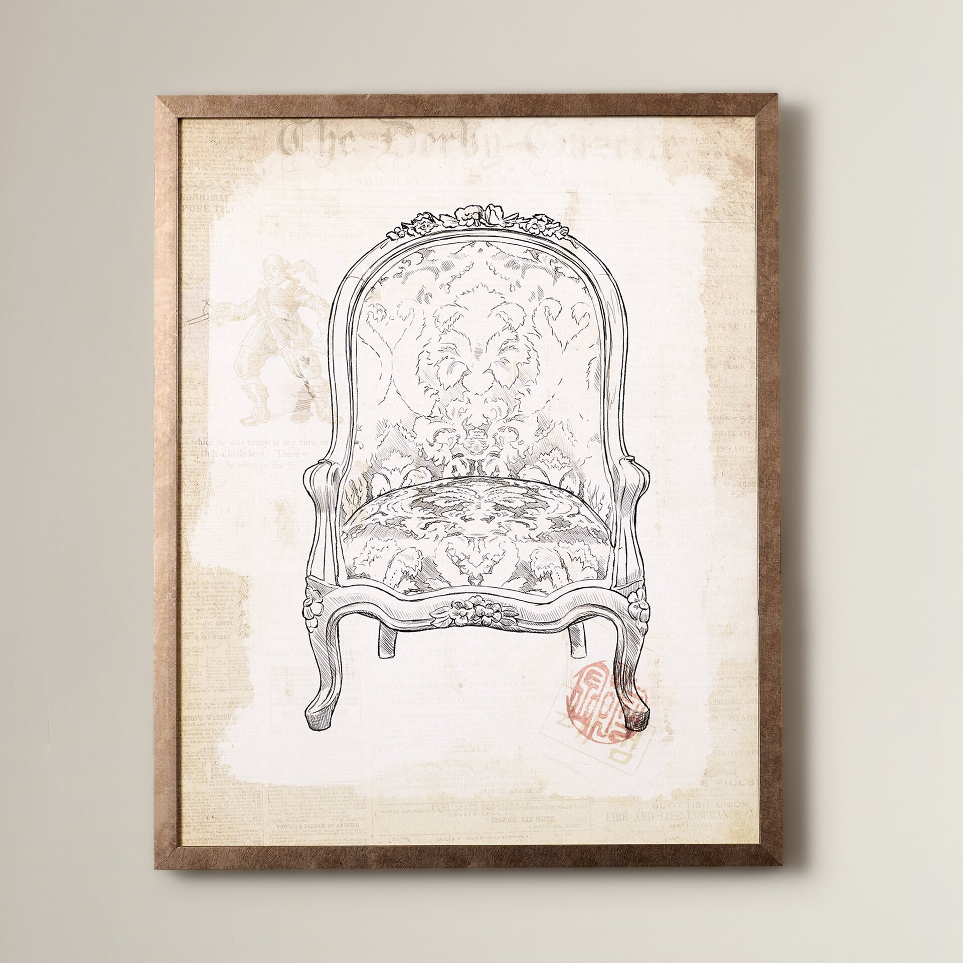 Lark manor 39 victorian chair 39 framed graphic art reviews for Victorian wall decor