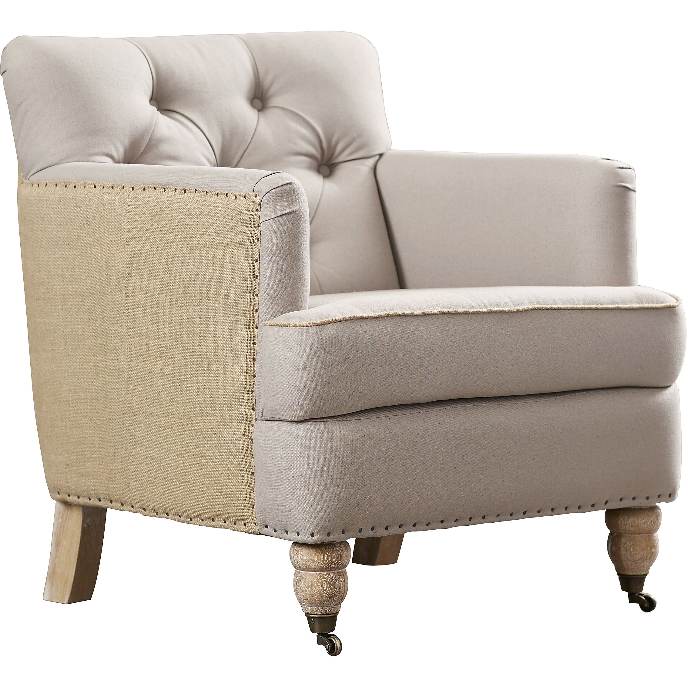 Lark manor minerve tufted arm chair amp reviews wayfair