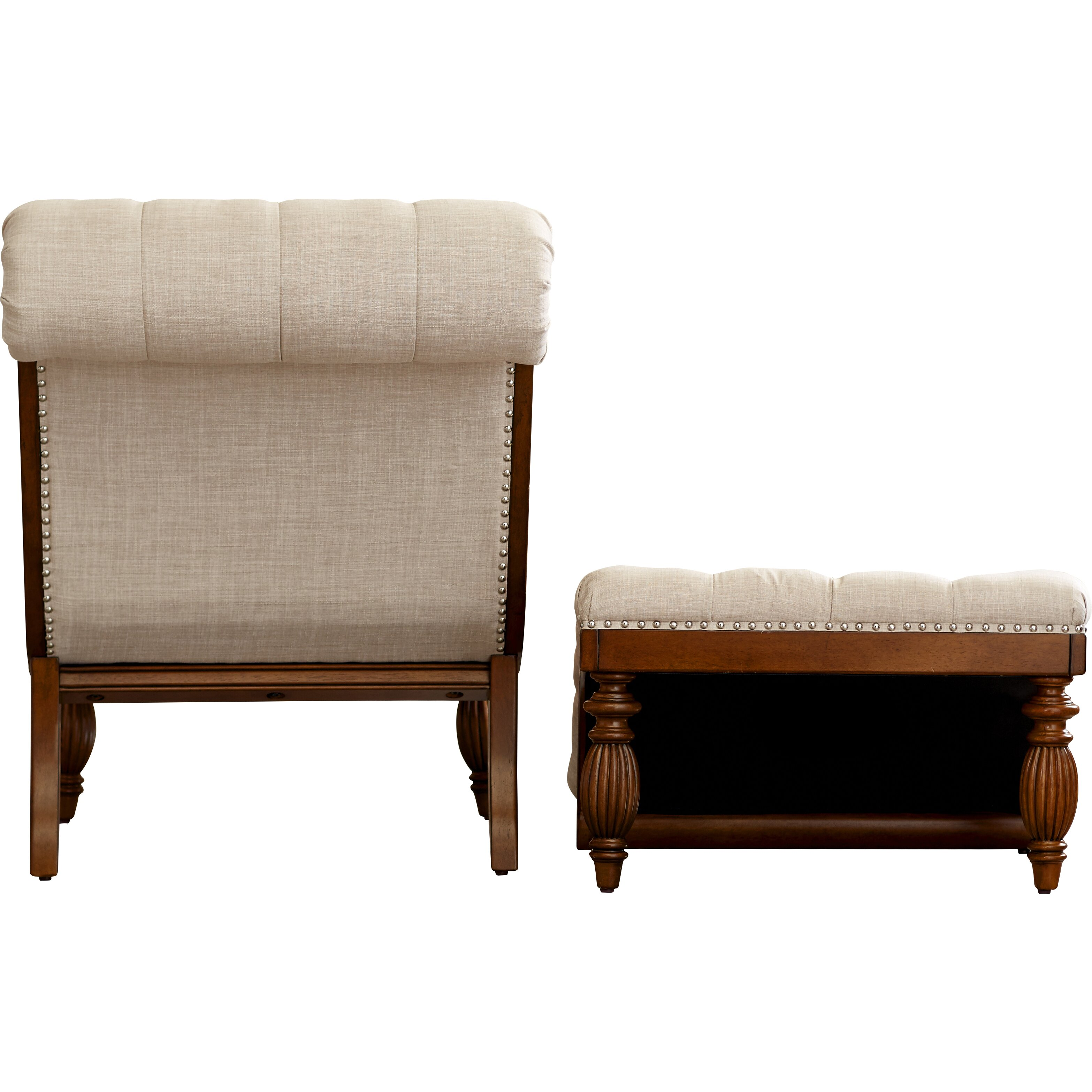 Lark manor celya chaise lounge and ottoman set reviews for Chaise and ottoman