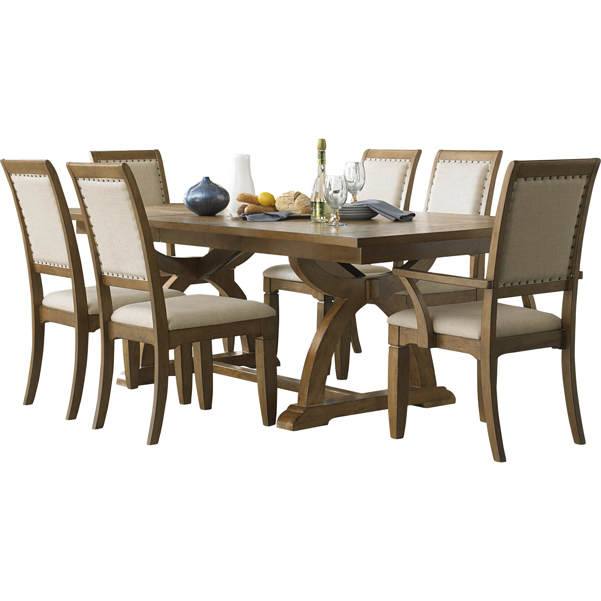 Lark manor ema 6 piece dining set reviews wayfair for Dining room sets 6 piece