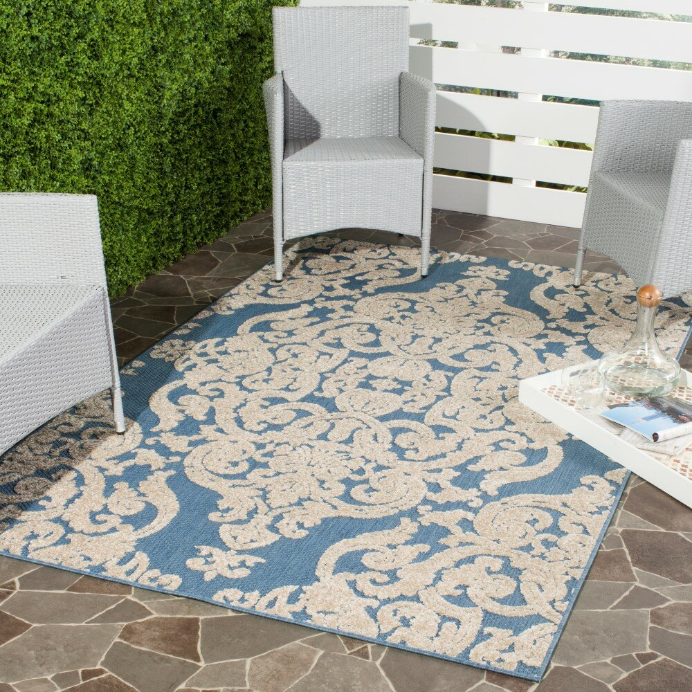 lark manor lievin blue indoor outdoor area rug reviews. Black Bedroom Furniture Sets. Home Design Ideas