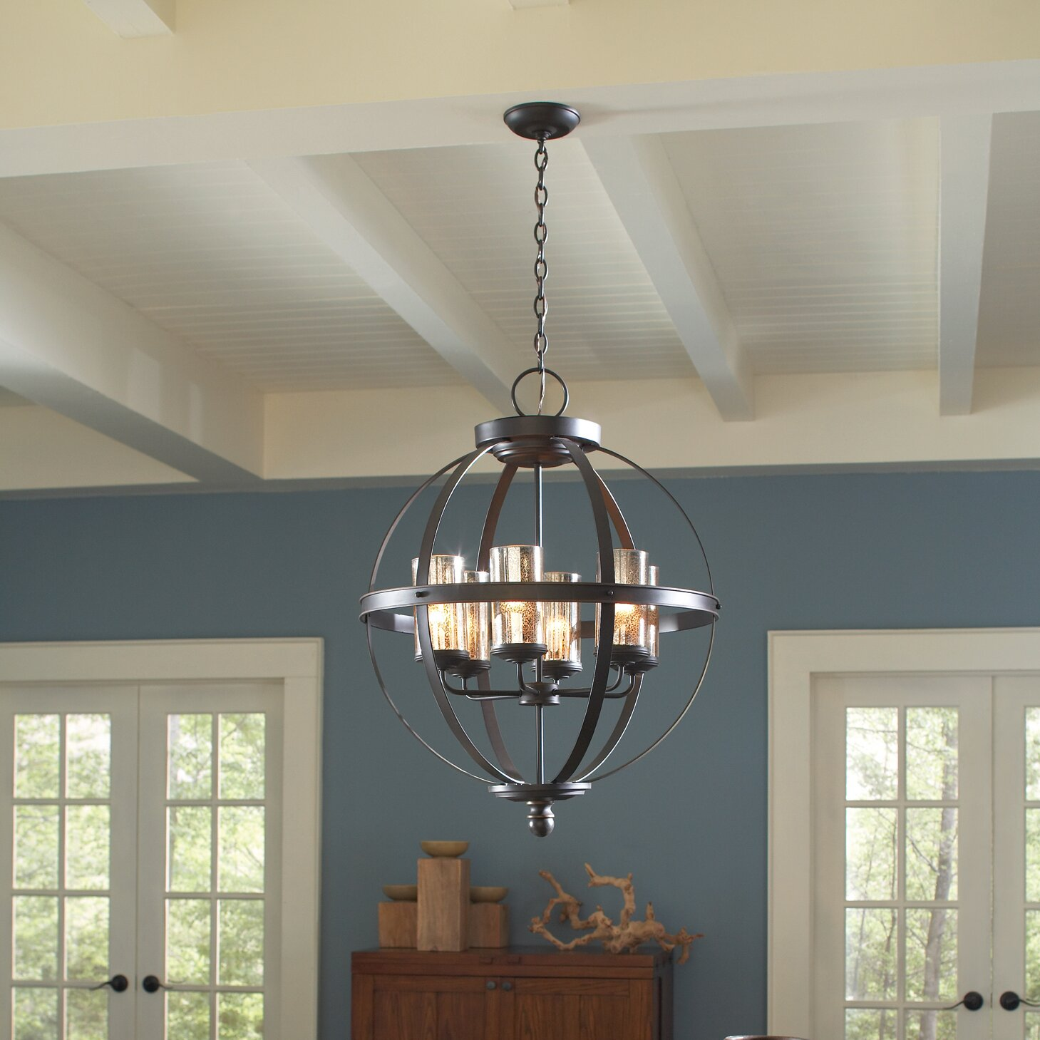 lark manor haute marne 4 light drum chandelier reviews wayfair. Black Bedroom Furniture Sets. Home Design Ideas