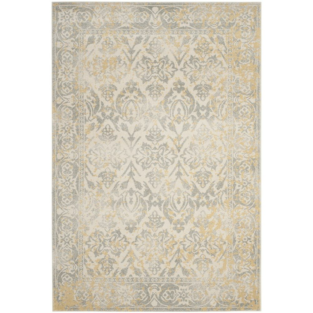 Lark manor montelimar ivory grey area rug reviews for Dining room rugs 9x12