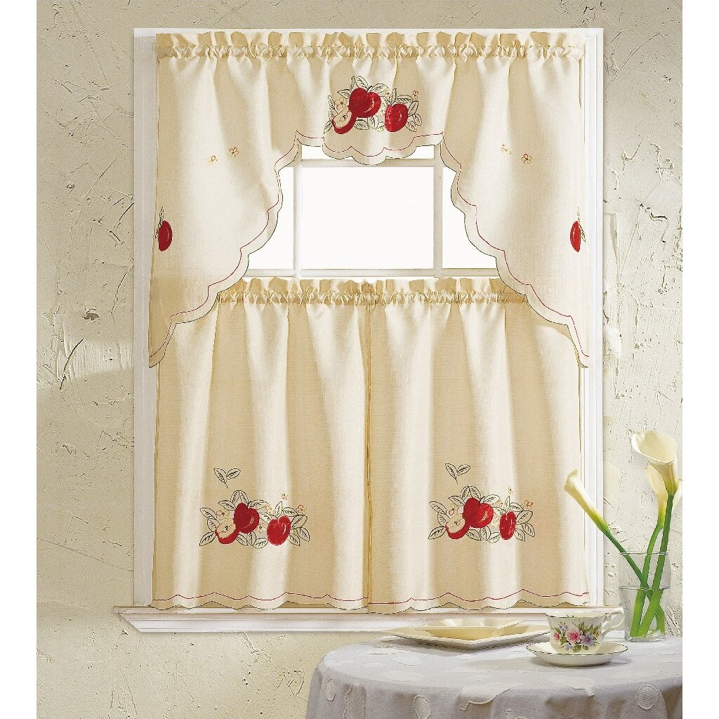 Daniels Bath Apples 3 Piece Kitchen Curtain Set & Reviews