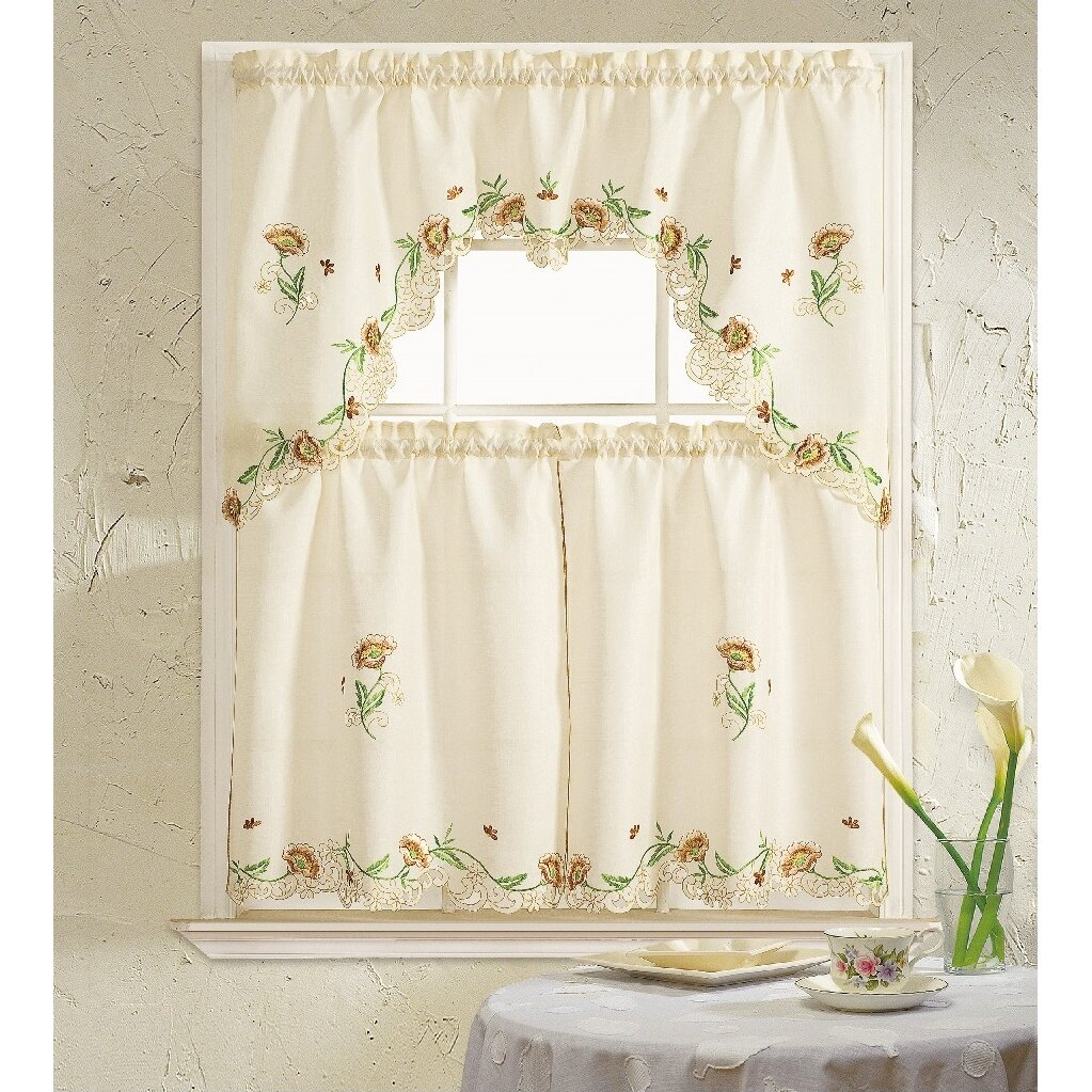 Daniels Bath Cosmos 3 Piece Kitchen Curtain Set & Reviews
