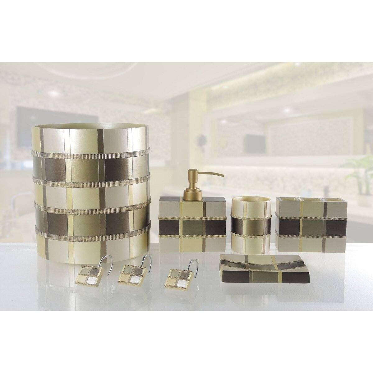 Daniels bath madison 5 piece bathroom hardware set wayfair for Bathroom 5 piece set