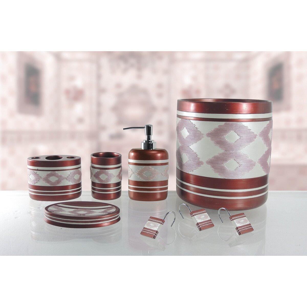 Daniels bath michelle 5 piece bathroom accessory set wayfair for Bathroom 5 piece set