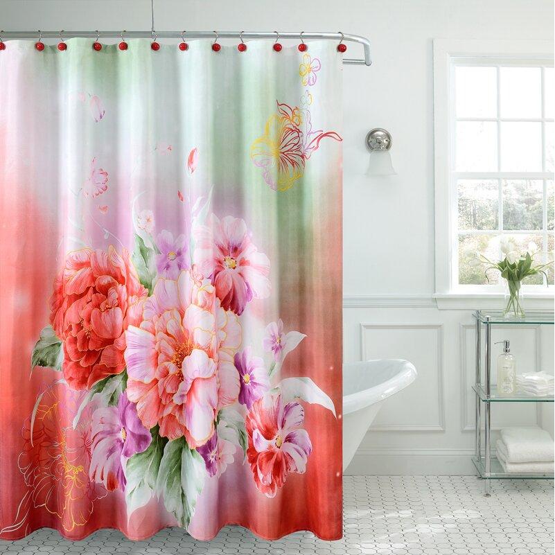 Daniels Bath Fancy Carnation Shower Curtain