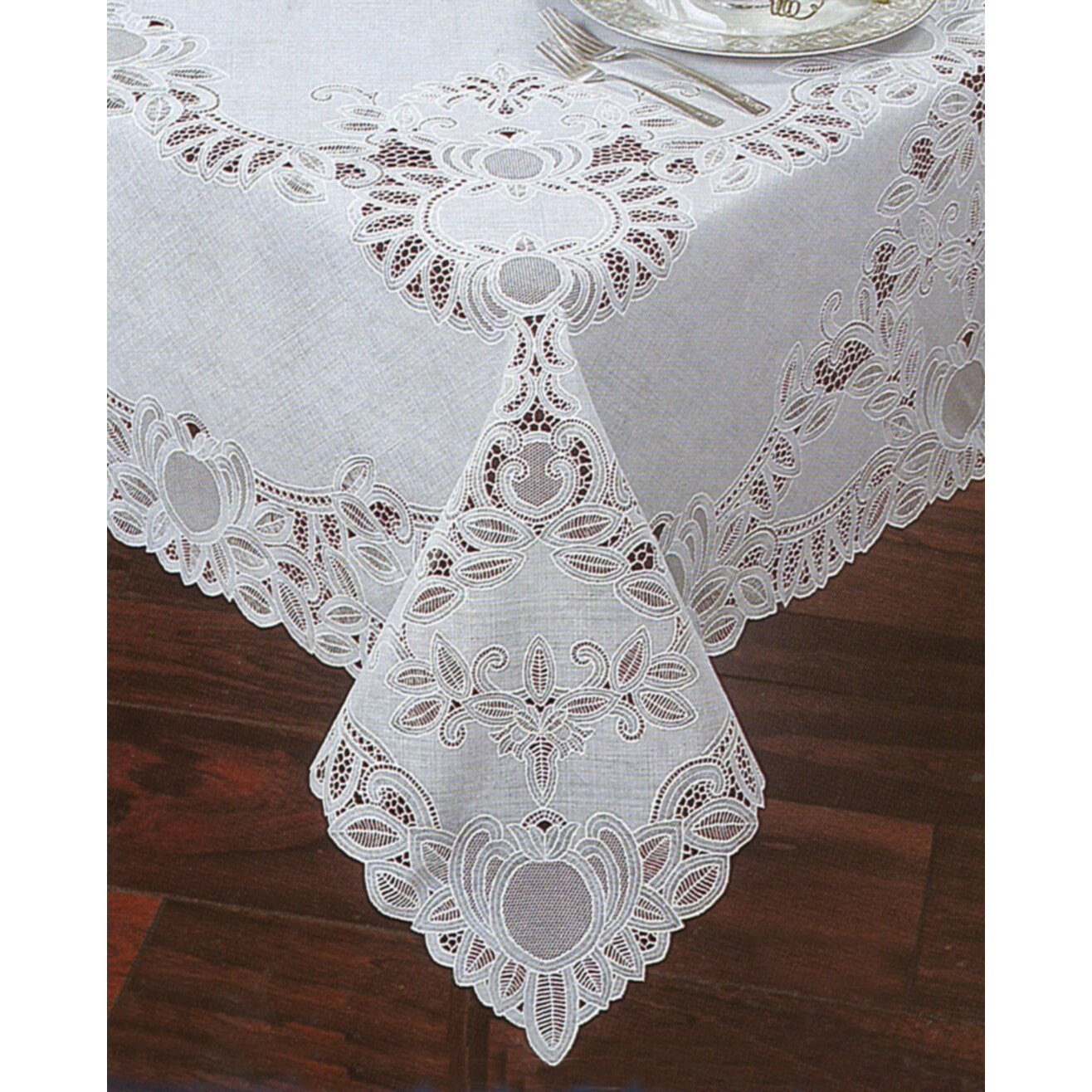Elrene Home Fashions Crochet Vinyl Lace Rectangle
