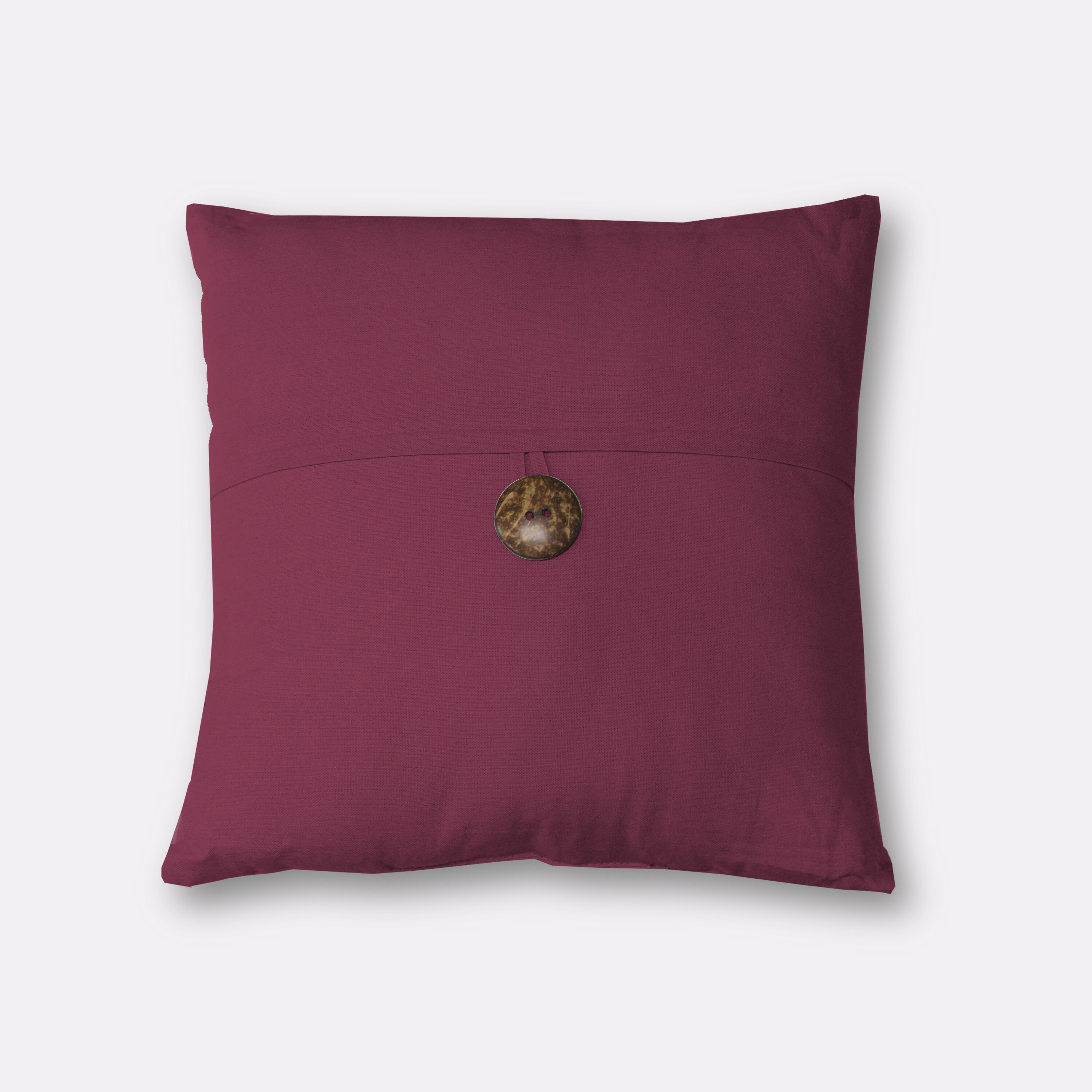 Throw Pillows With Buttons : Elrene Home Fashions Essex Button Decorative Throw Pillow & Reviews Wayfair