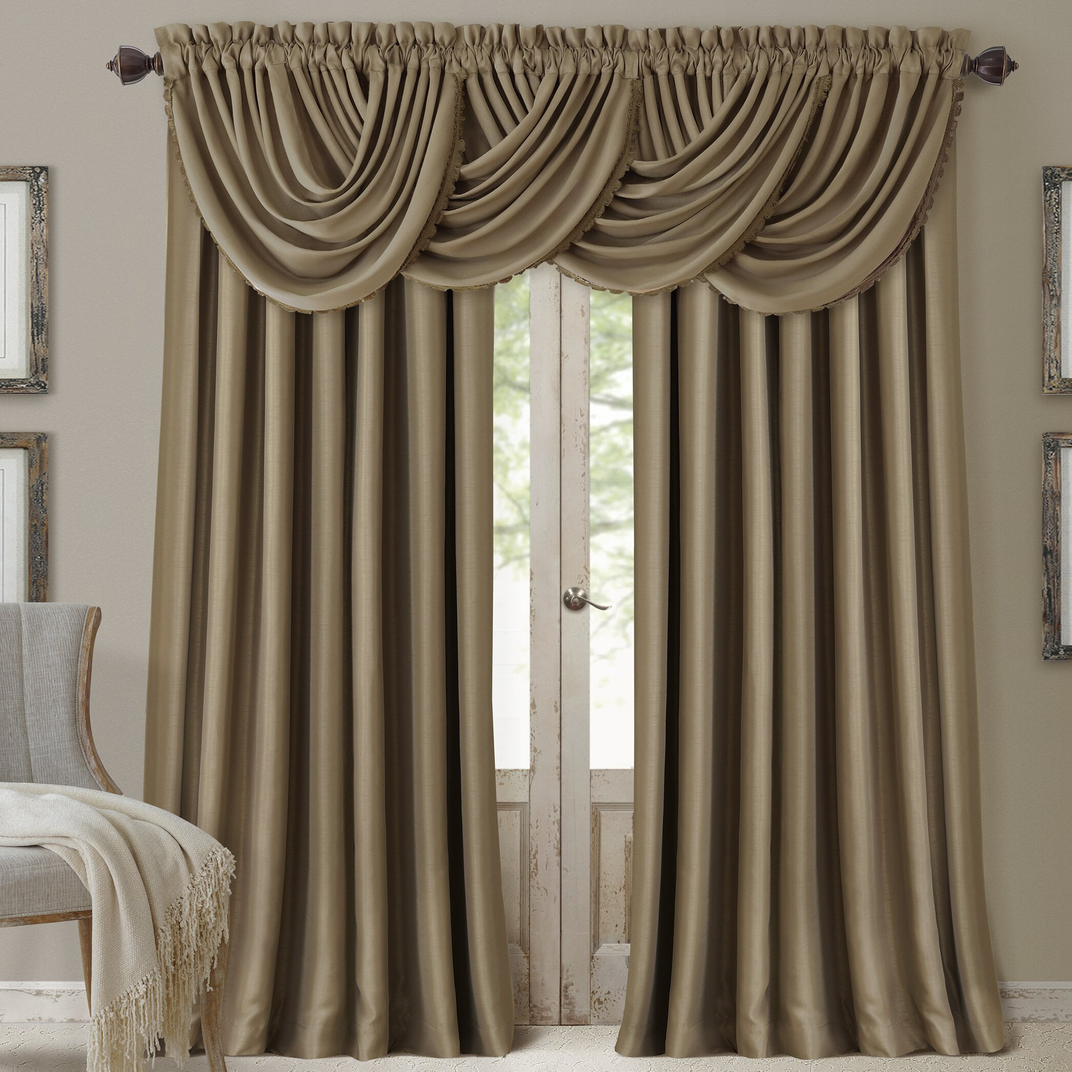 Elrene Home Fashions All Seasons Blackout Waterfall 52 Curtain Valance Reviews