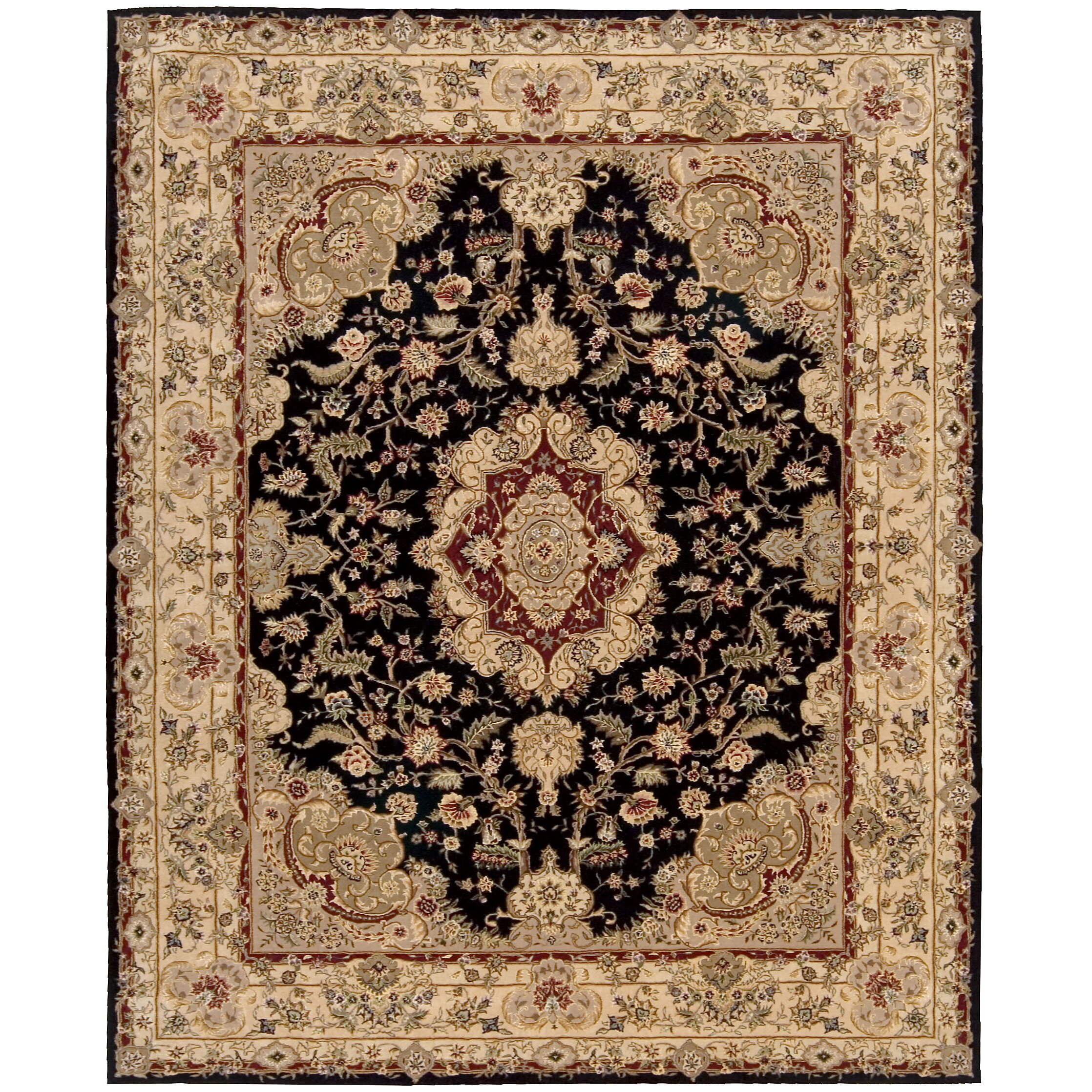 Nourison Nourison Black/Tan Area Rug & Reviews