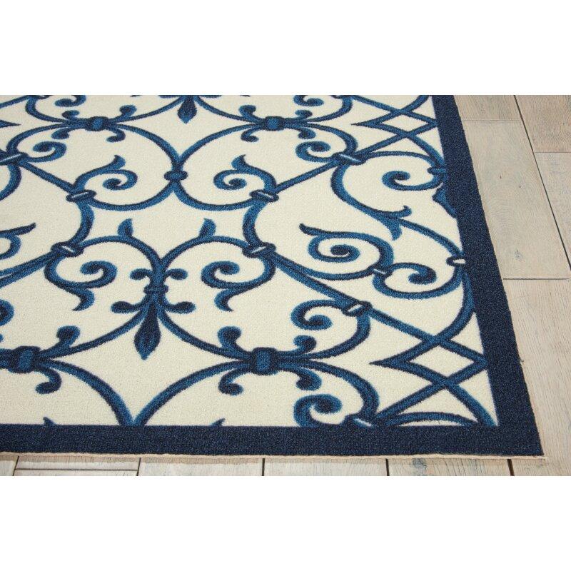 Nourison Home And Garden Blue Area Rug Reviews Wayfair