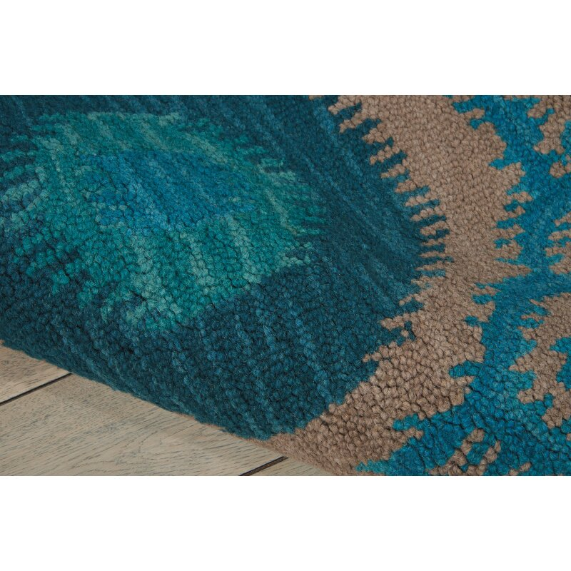 Nourison Siam Grey Teal Rug Amp Reviews Wayfair