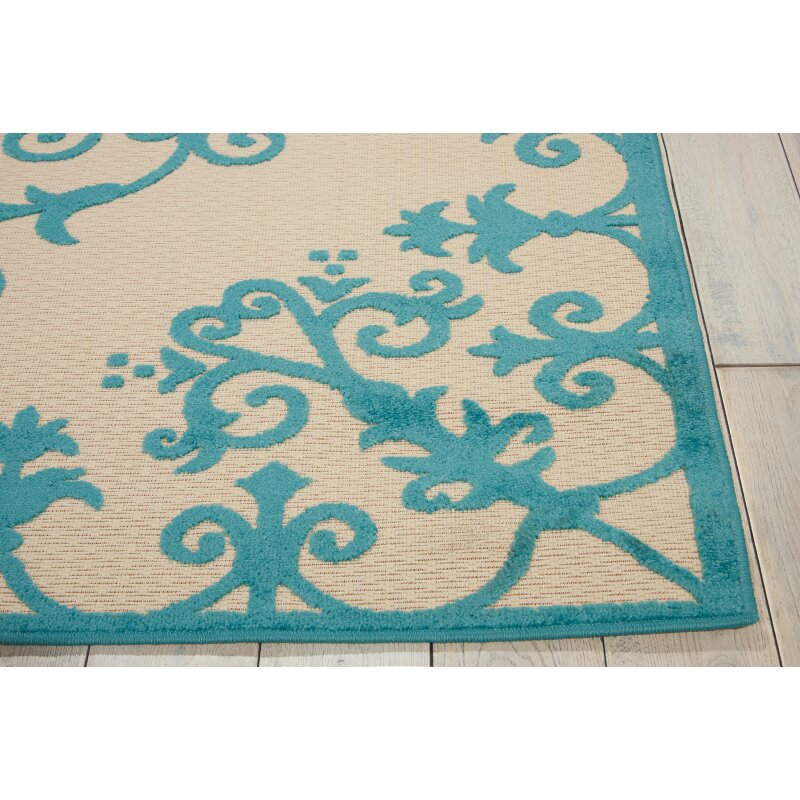 Nourison Aloha Aqua Indoor/Outdoor Area Rug & Reviews
