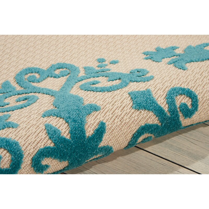 8x10 Indoor Outdoor Area Rugs: Nourison Aloha Aqua Indoor/Outdoor Area Rug & Reviews