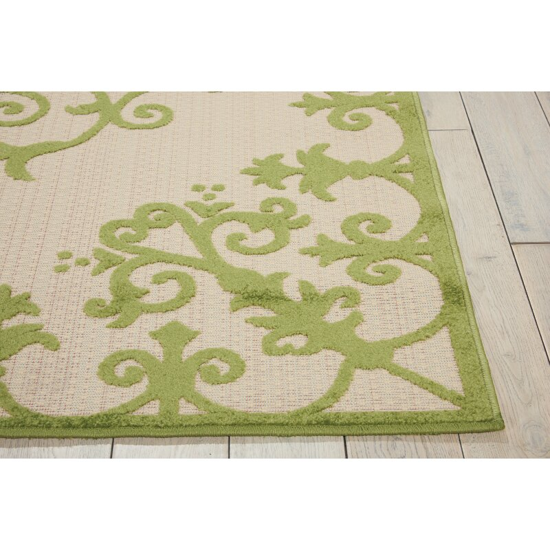 Nourison aloha green indoor outdoor area rug reviews for Landscape indoor area rug