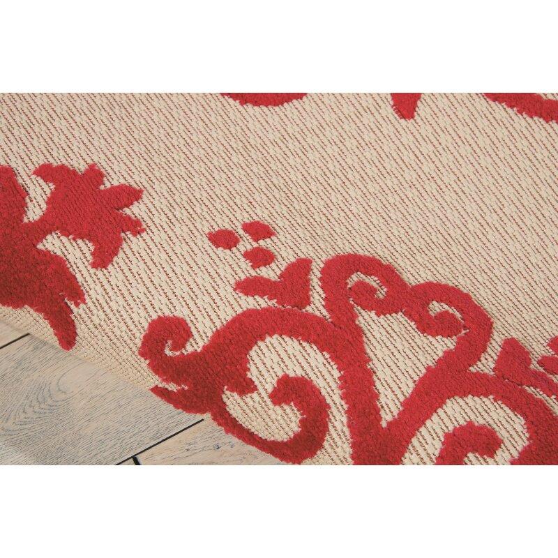 Nourison Aloha Red Indoor Outdoor Area Rug & Reviews