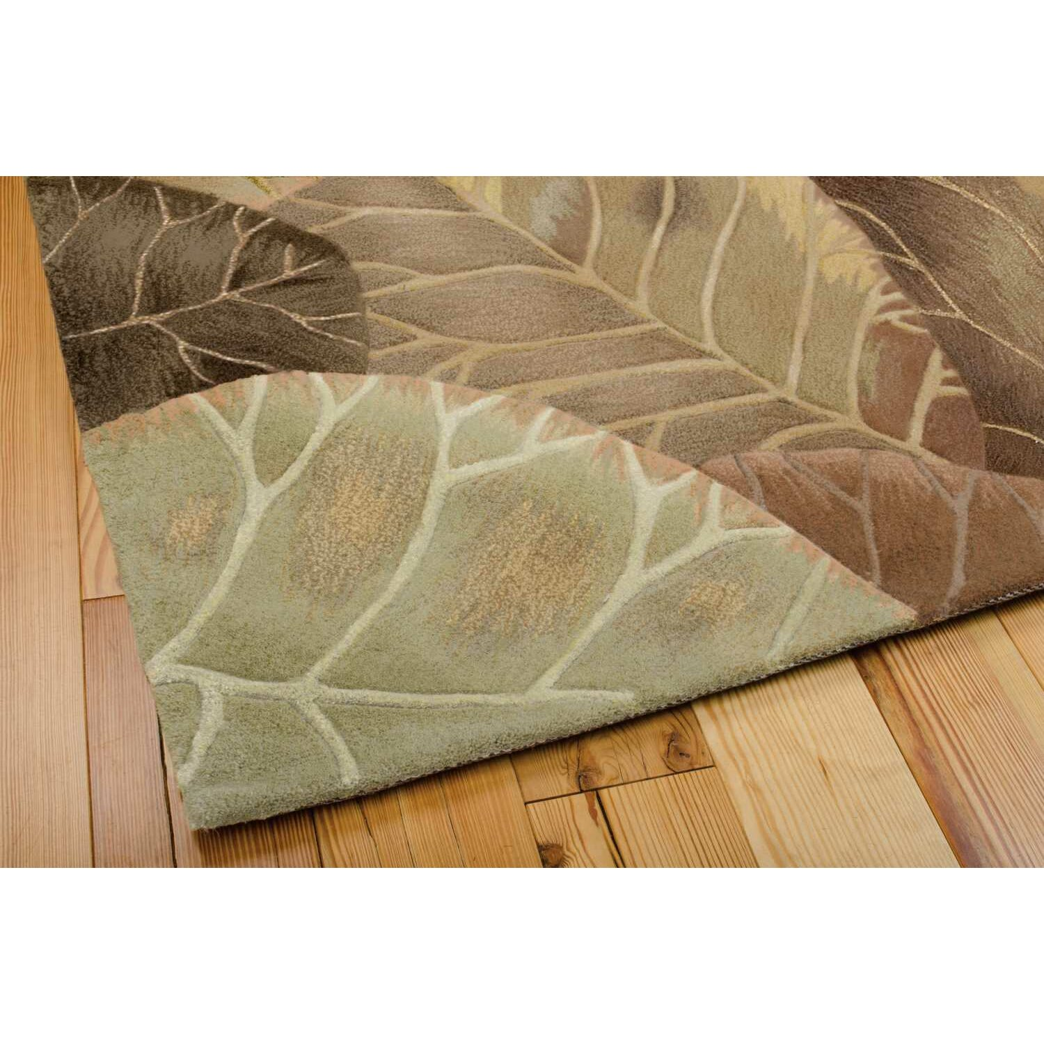 Nourison Tropics Brown/Green Novelty Area Rug & Reviews