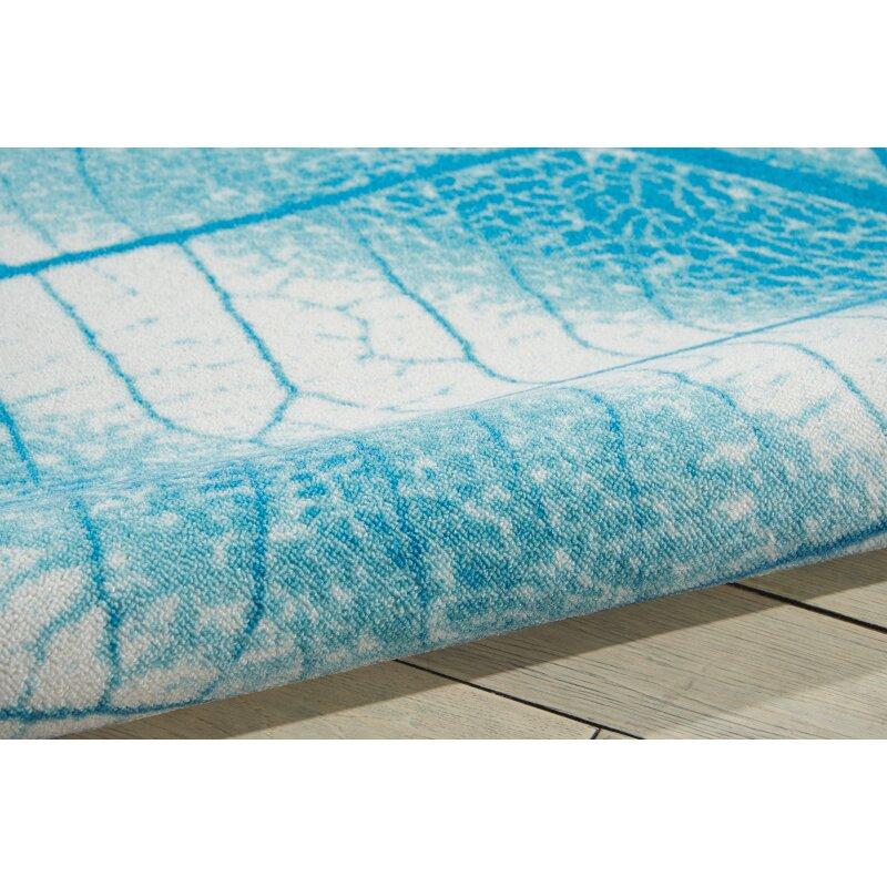 Nourison Coastal Aqua Indoor/Outdoor Area Rug & Reviews