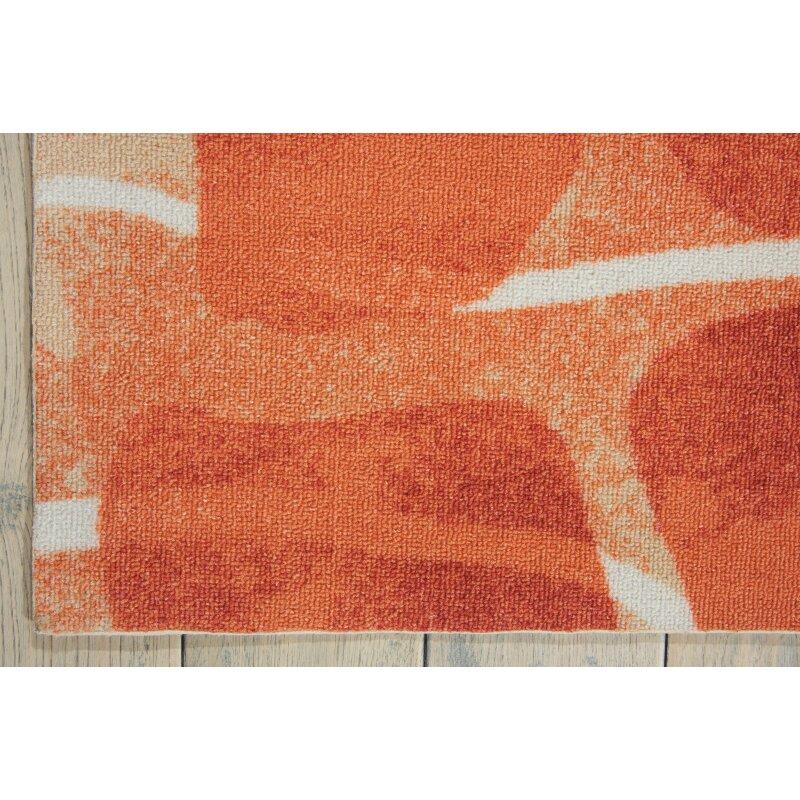 Nourison Coastal Orange Indoor Outdoor Area Rug Amp Reviews