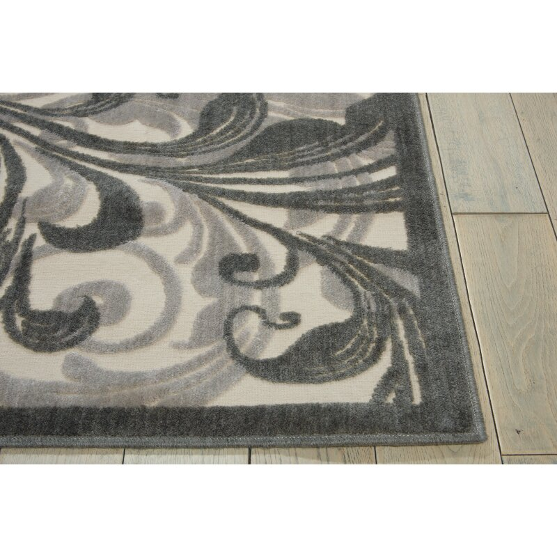 Nourison Graphic Illusions Gray Abstract Area Rug
