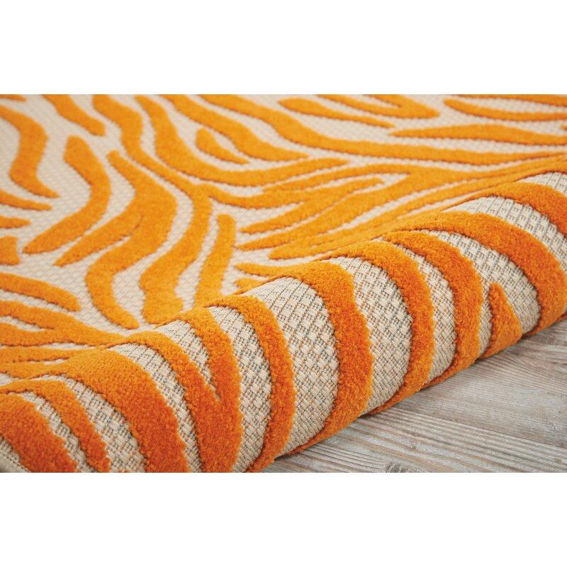 Nourison Aloha Orange Indoor Outdoor Area Rug & Reviews