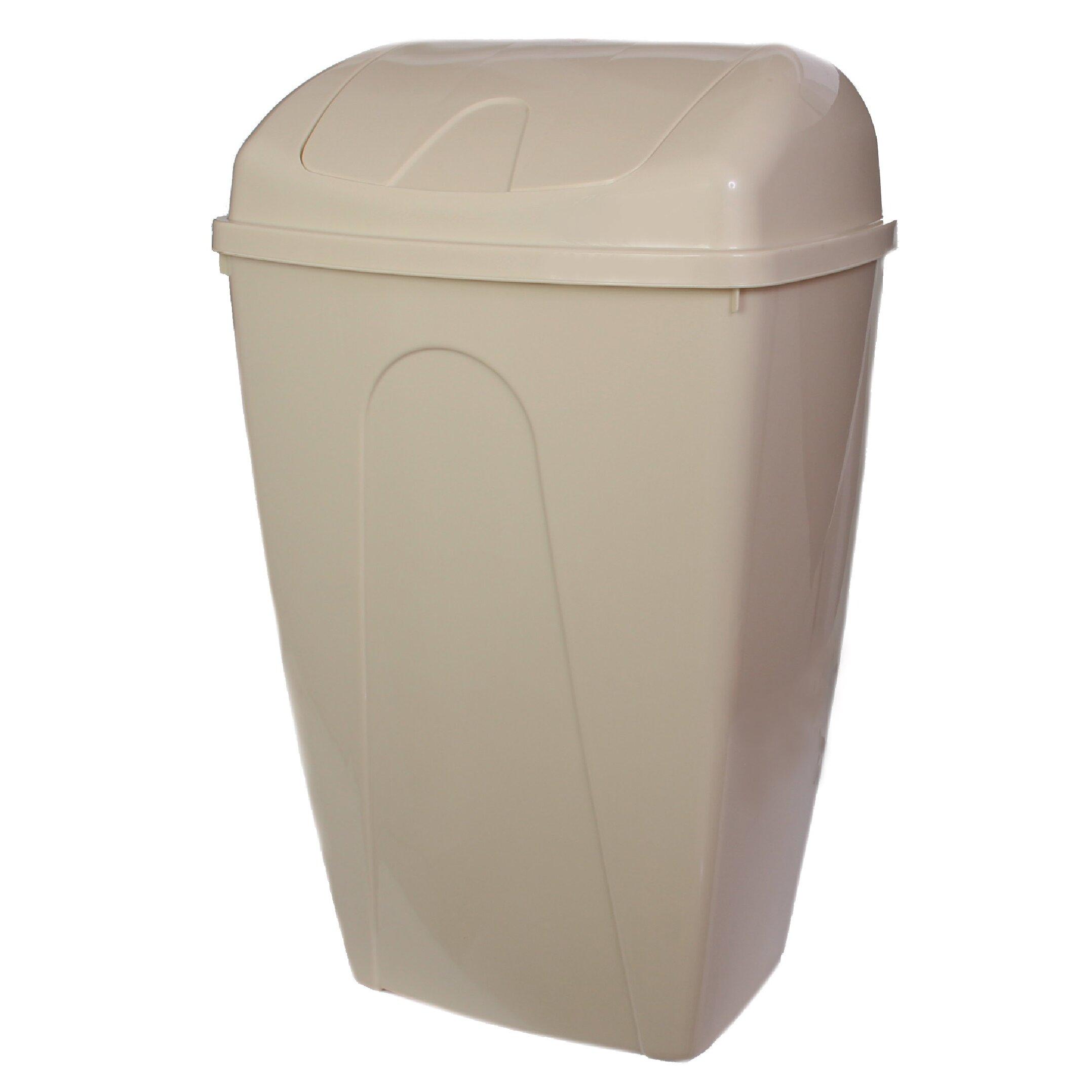 ybm home 13 gallon swing top plastic trash can reviews. Black Bedroom Furniture Sets. Home Design Ideas