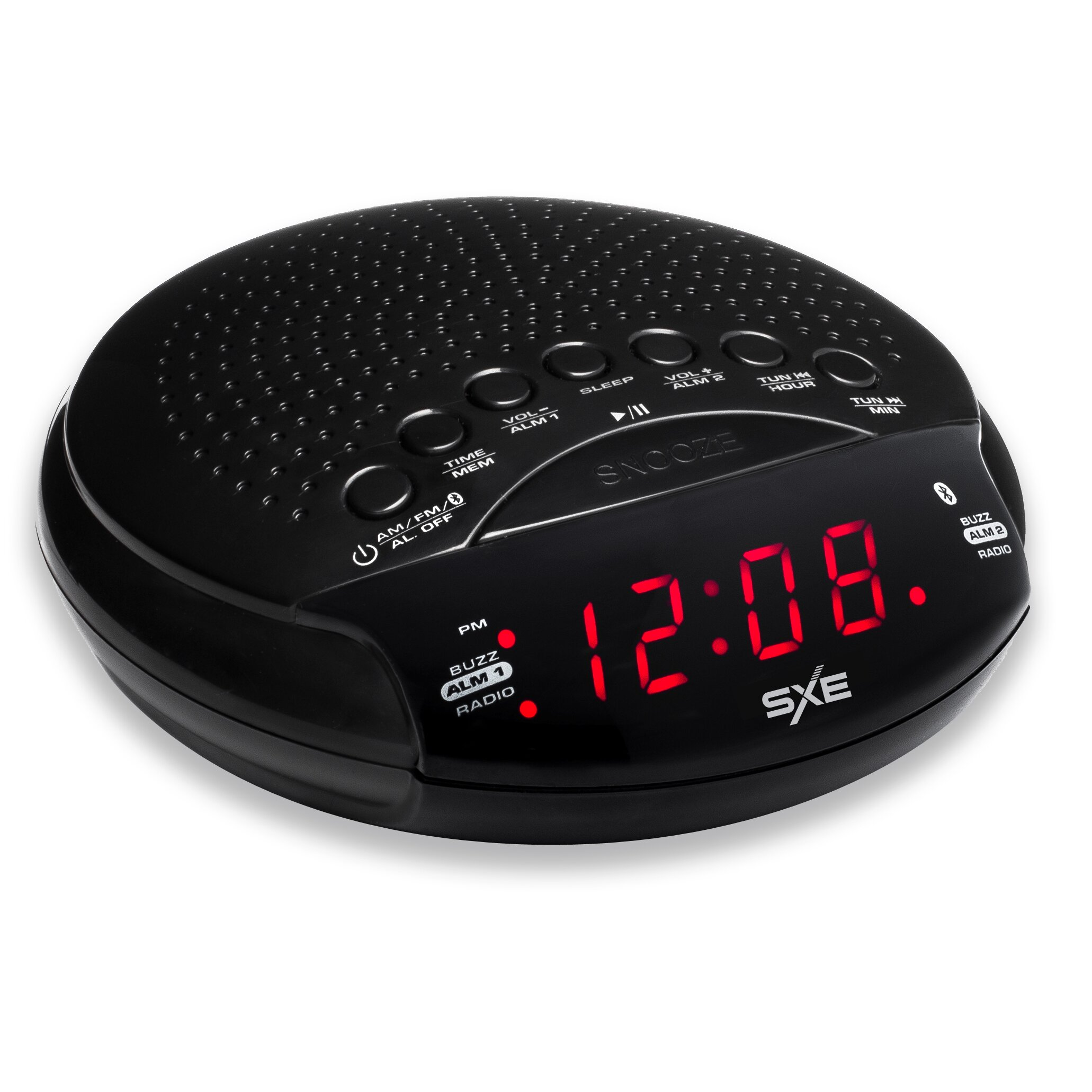 westclox sxe bluetooth speaker and radio alarm clock reviews wayfair. Black Bedroom Furniture Sets. Home Design Ideas
