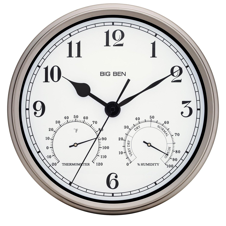 Westclox Big Ben 12 Quot Round Metal Frame Outdoor Wall Clock