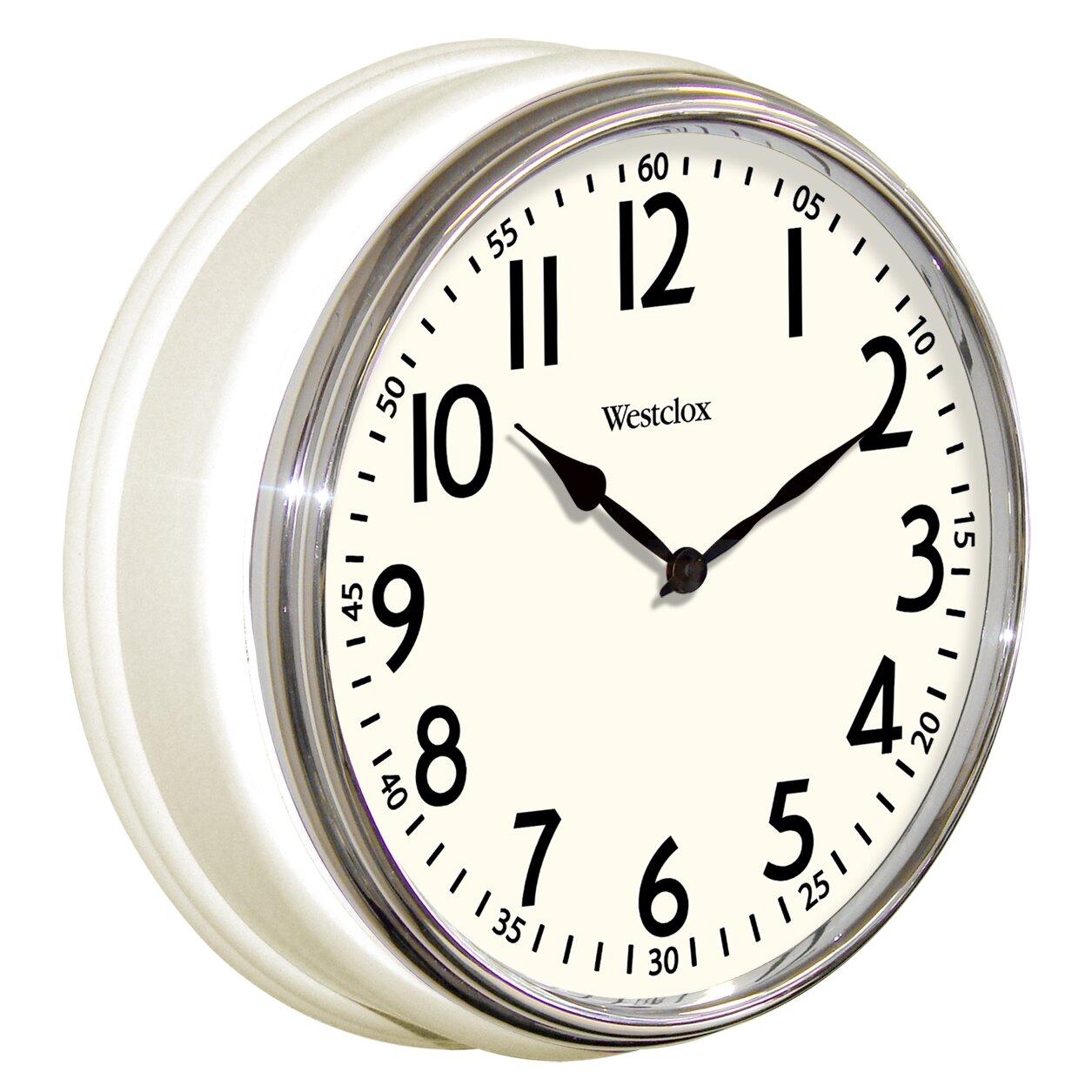 """Westclox 12"""" Retro Wall Clock & Reviews"""