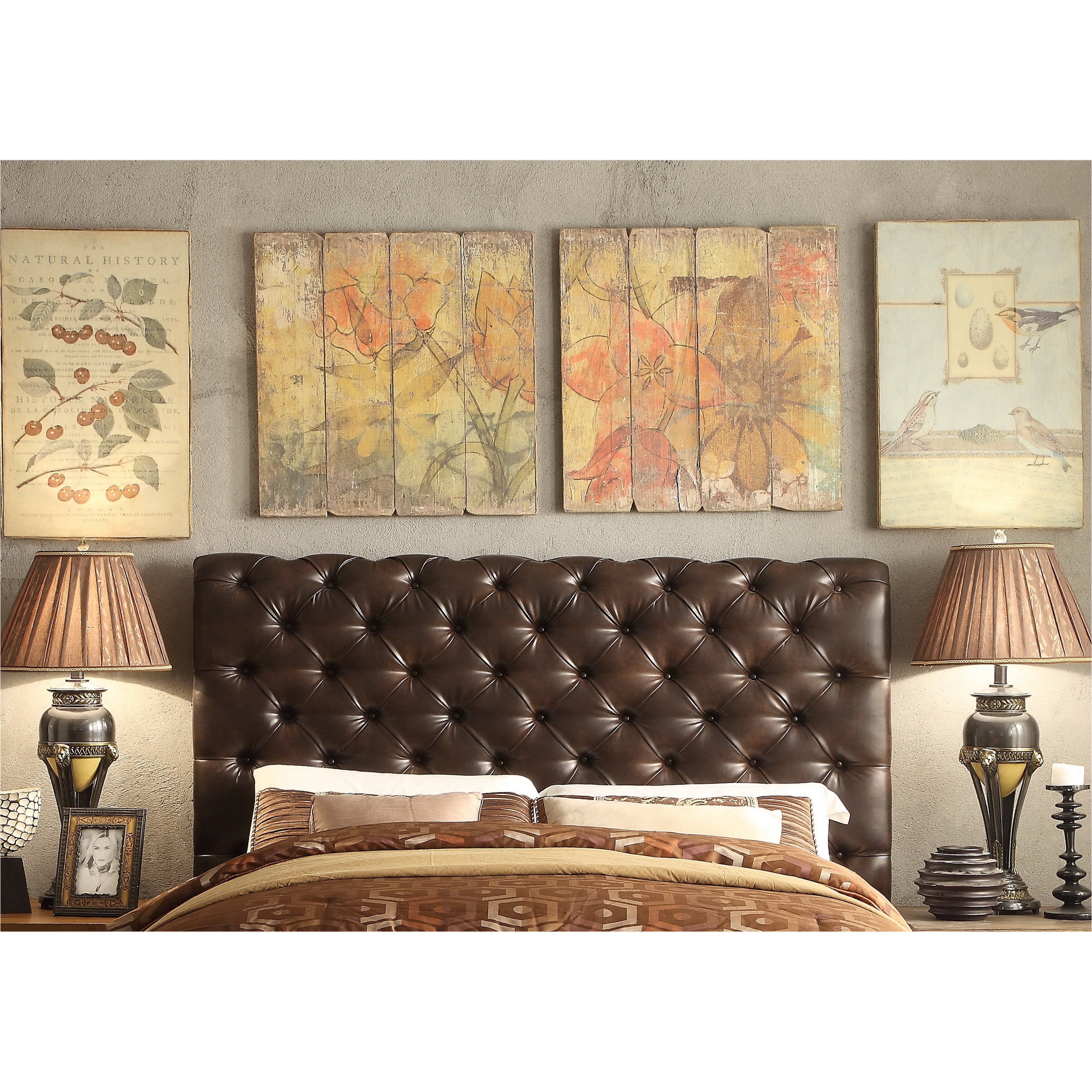 Calia King Upholstered Panel Bed