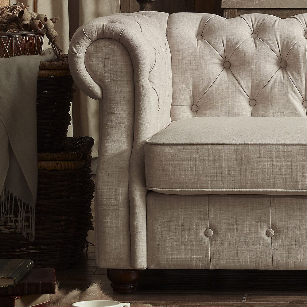 Mulhouse furniture olivia tufted sofa reviews wayfair - Boutique free mulhouse ...