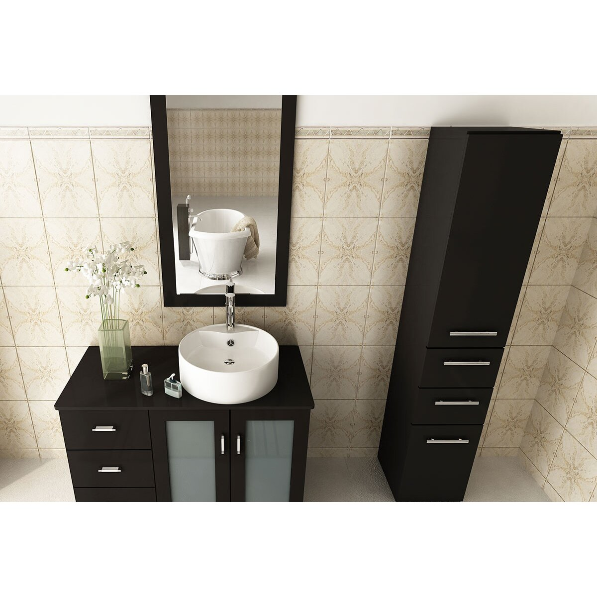 Jwh Living 39 Single Lune Modern Bathroom Vanity Set Reviews Wayfair