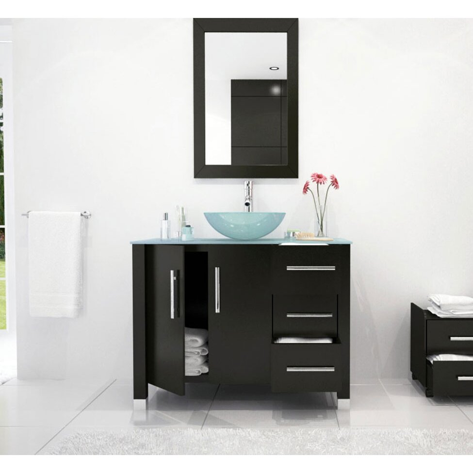 Jwh Living Crater 39 5 Single Modern Bathroom Vanity Set Reviews