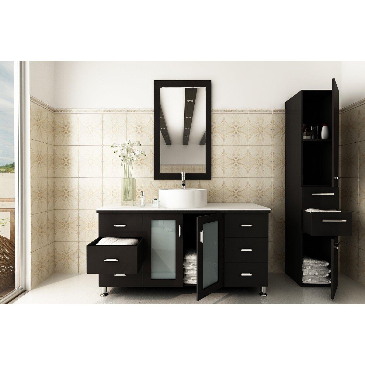 Jwh Living Grand Lune 47 Single Vessel Modern Bathroom Vanity Set Wayfair