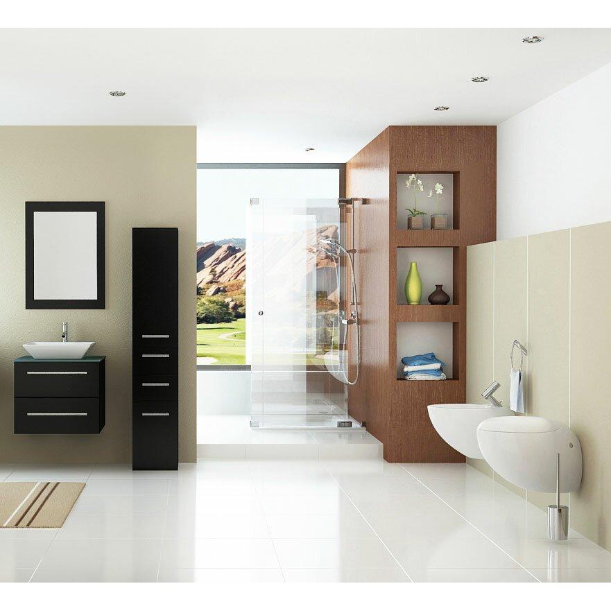 Jwh Living Carina 24 Single Vessel Modern Bathroom Vanity Set