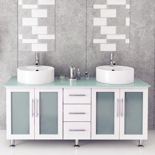 Jwh Living Lune 59 Double Vessel Modern Bathroom Vanity Set Reviews