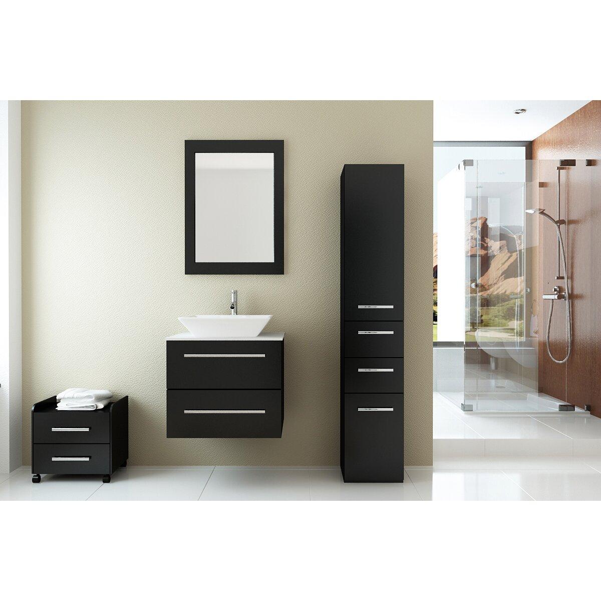 Jwh Living Carina 24 Single Wall Mounted Bathroom Vanity Set Reviews Wayfair