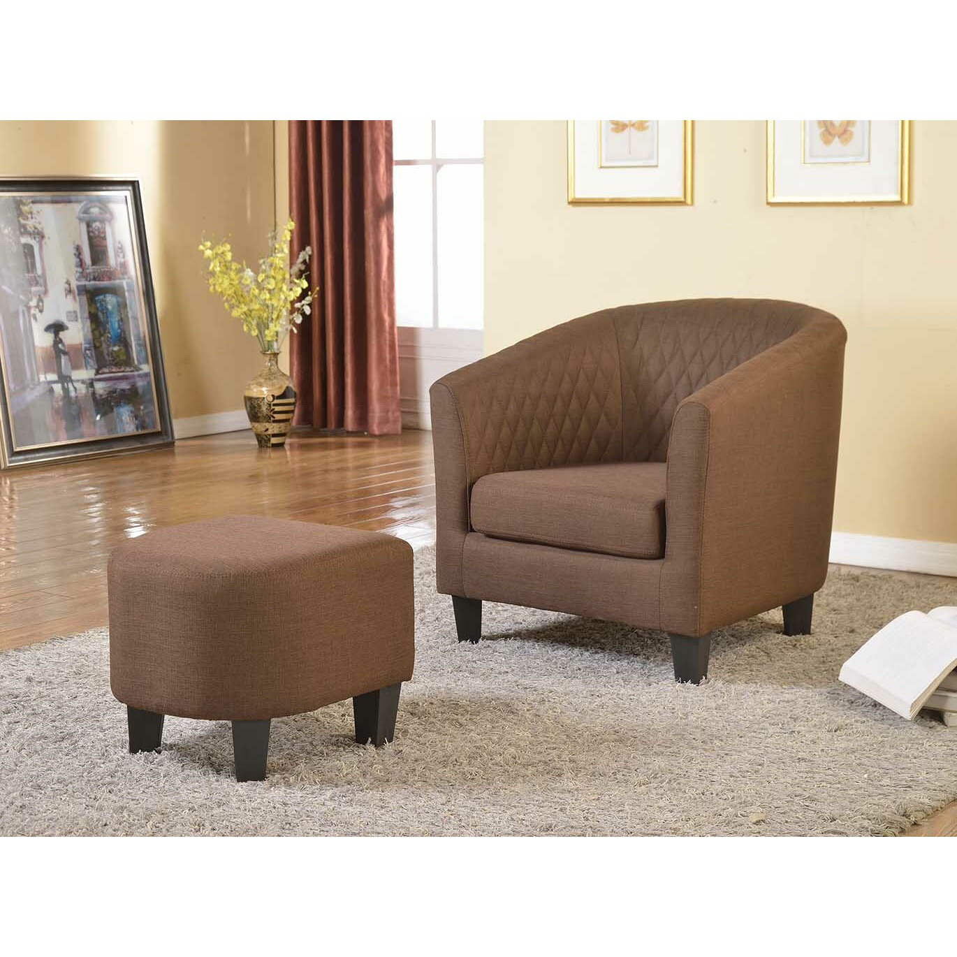 Container Isabella Arm Chair And Ottoman Amp Reviews Wayfair
