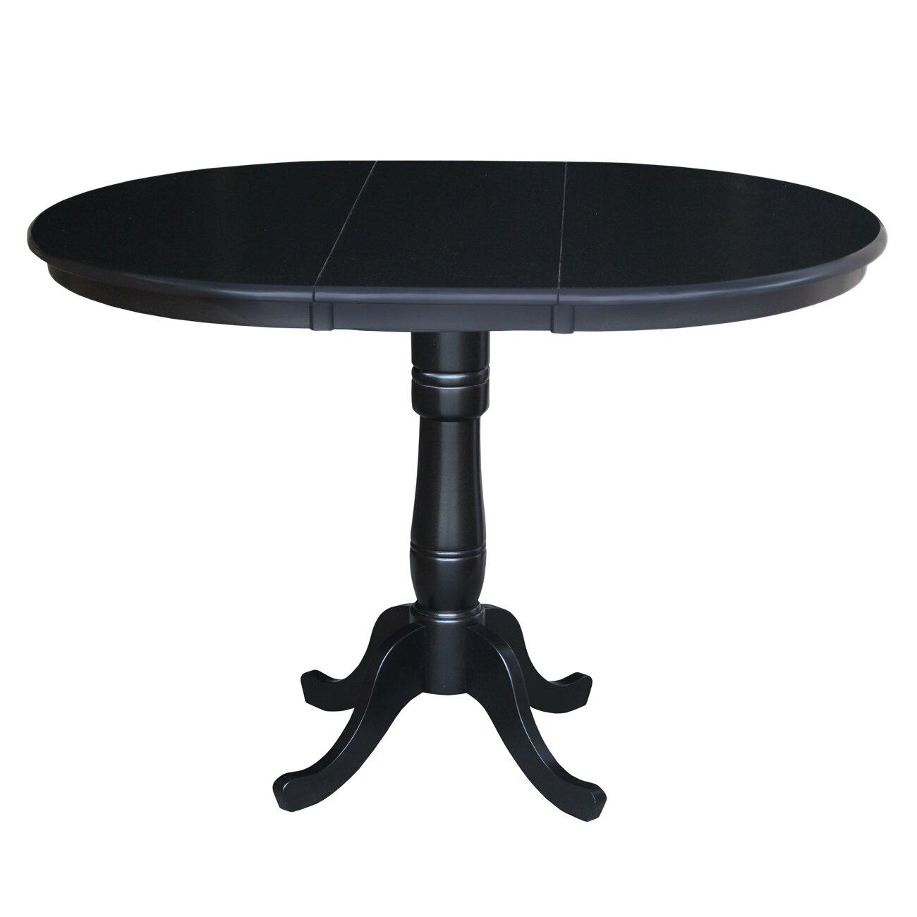 International Concepts Round Pedestal Bar Height Pub Table