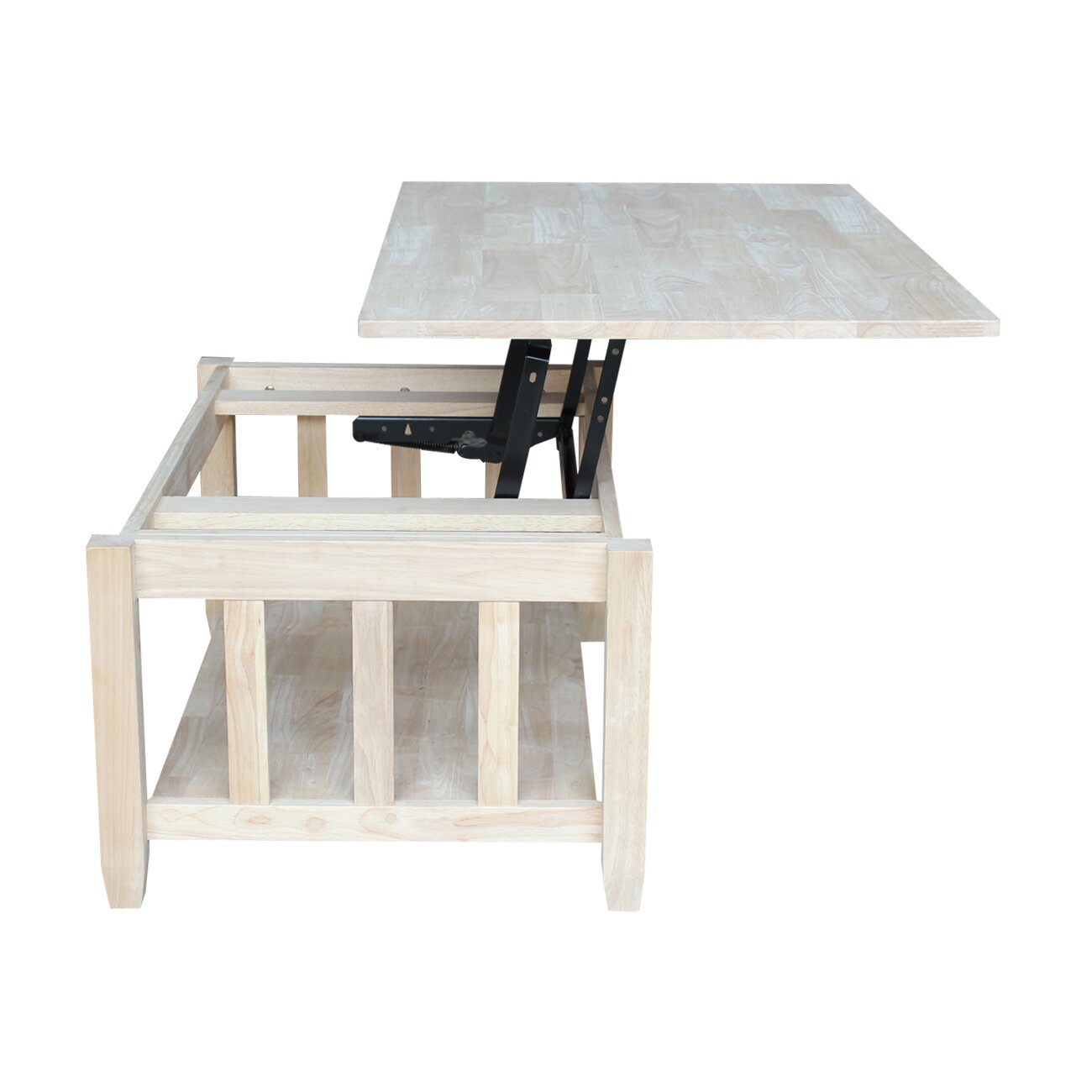 International Concepts Mission Solid Wood Lift Top Coffee