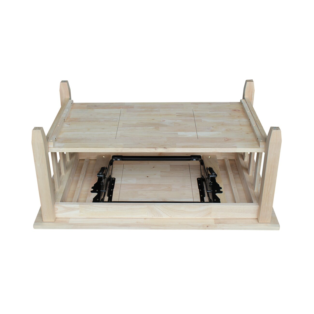 International concepts unfinished wood mission coffee for Wood for coffee table top