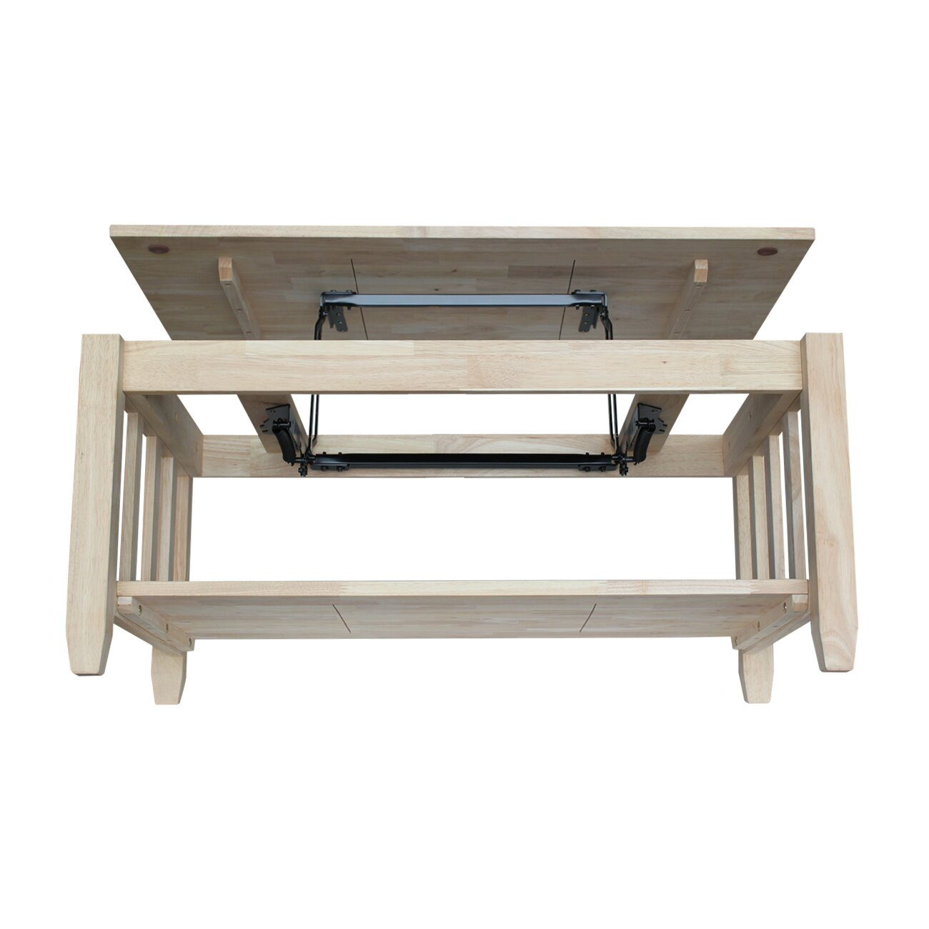 International Concepts Unfinished Wood Mission Coffee Table With Lift Top Reviews Wayfair