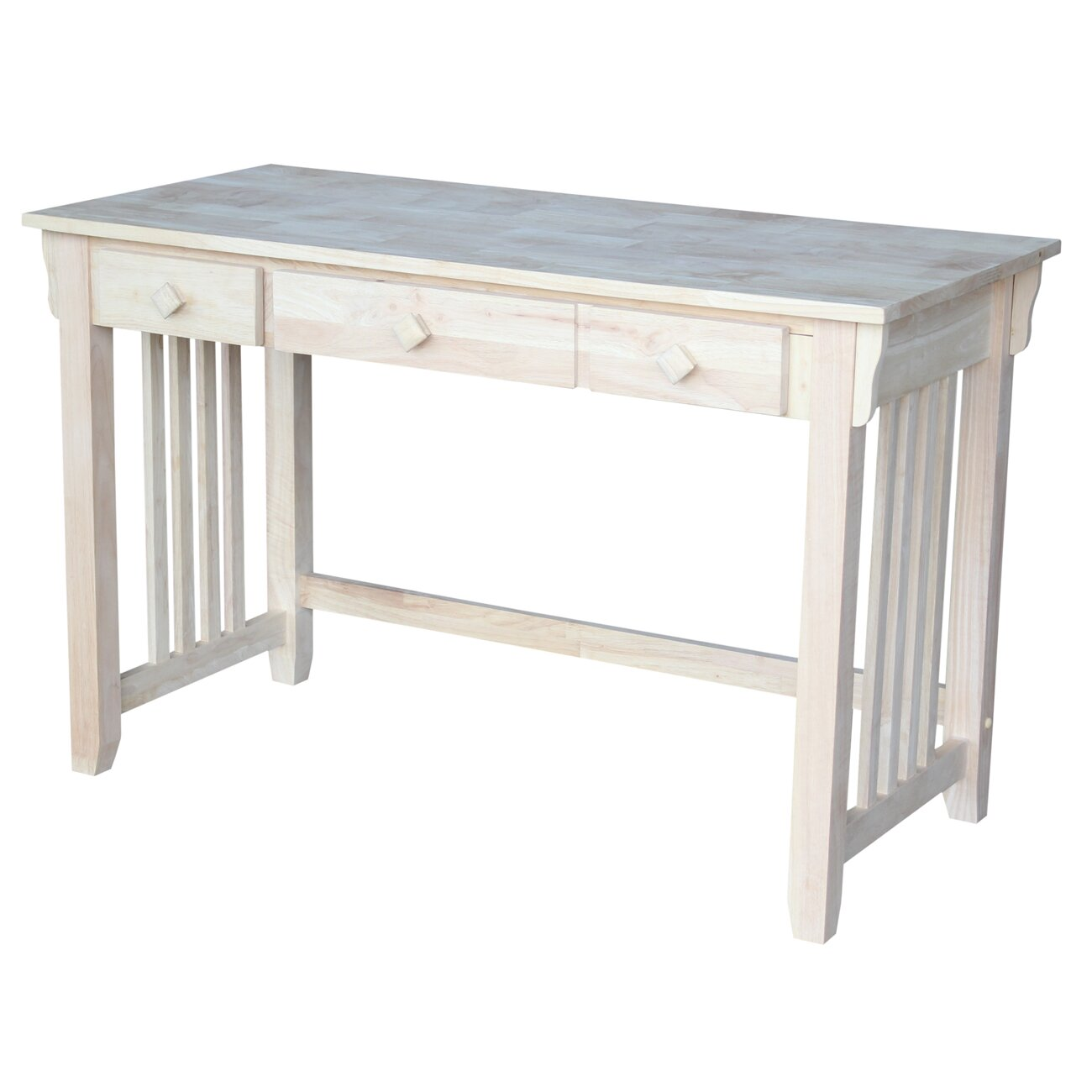 International Concepts Unfinished Mission Writing Desk
