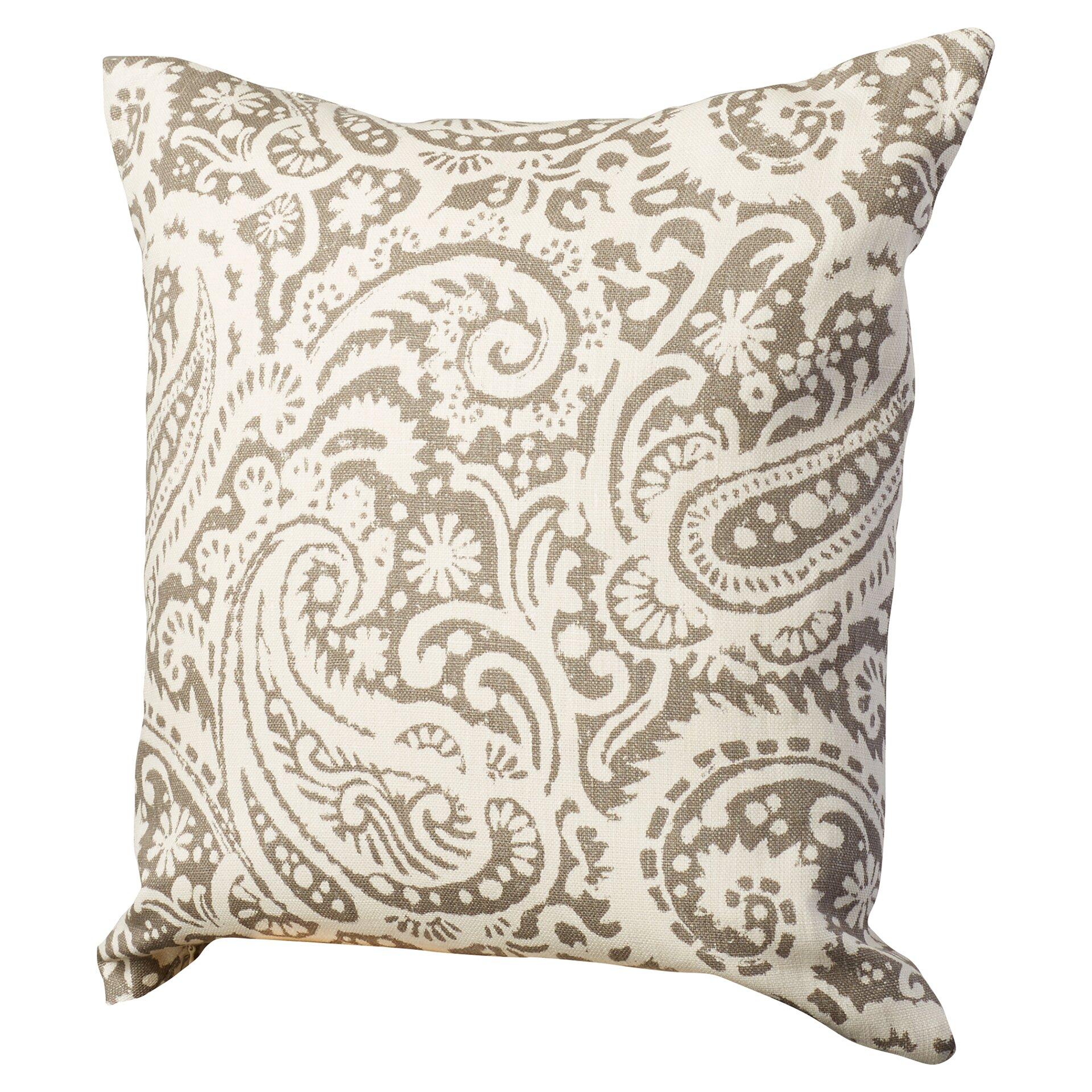August Grove Francisca Paisley Linen Throw Pillow & Reviews Wayfair
