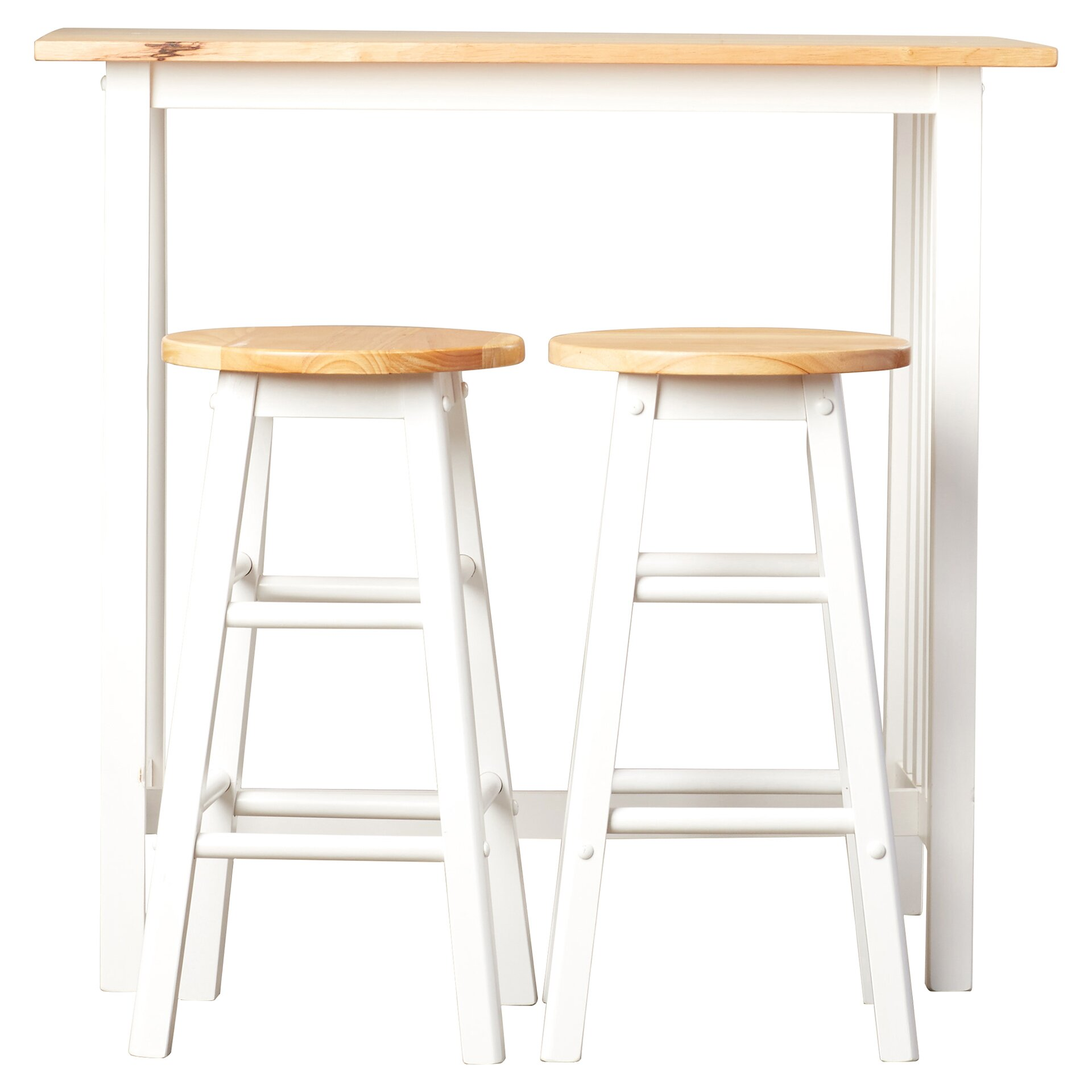 August Grove Sigrid 3 Piece Counter Height Pub Table Set