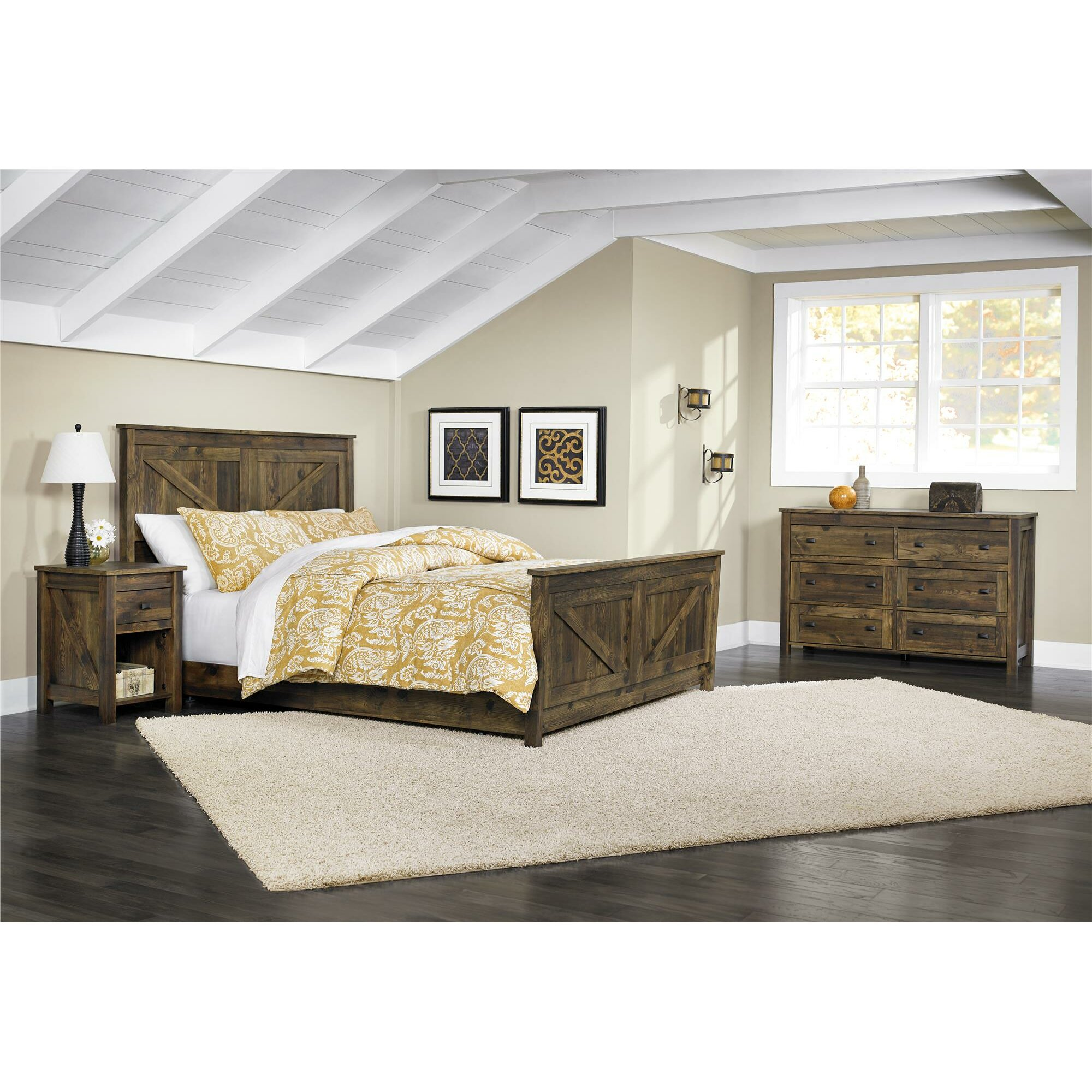 August Grove Gilby Queen Panel Customizable Bedroom Set