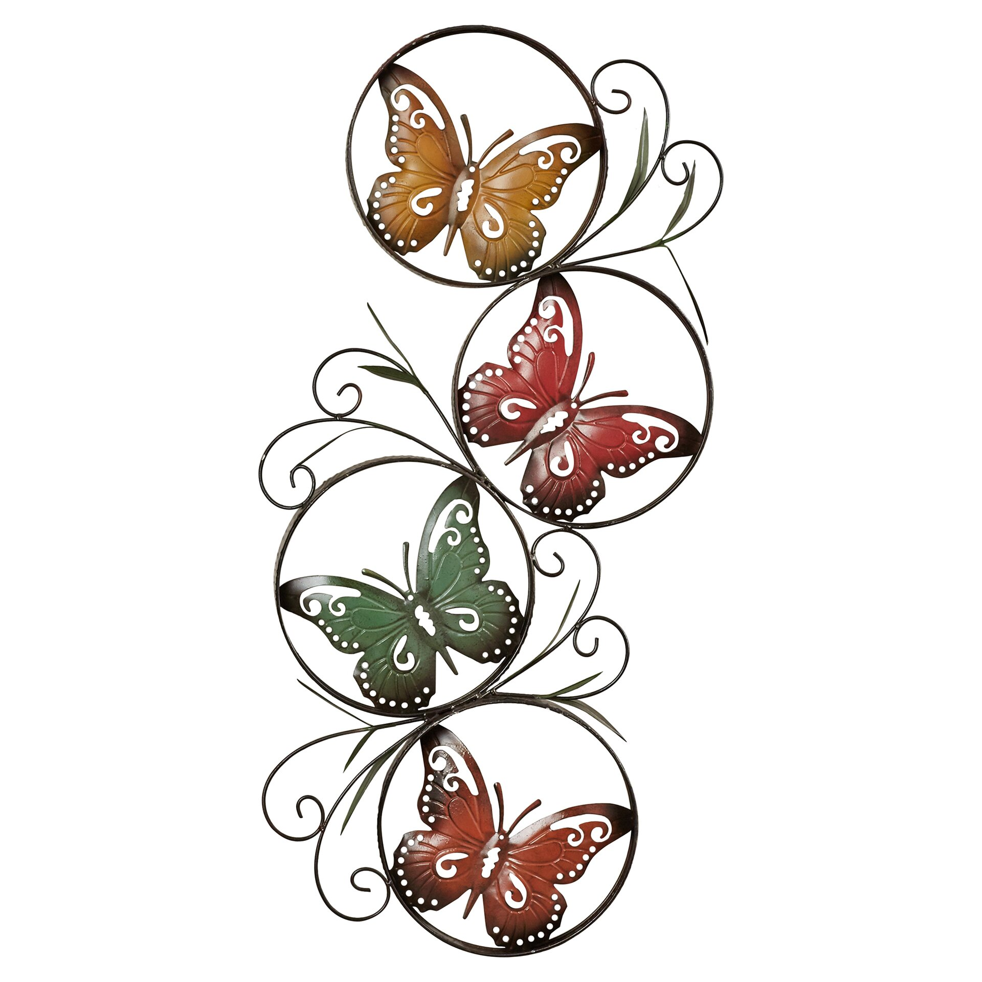 Metal Butterfly Wall Decoration : August grove ila metal butterfly wall d?cor reviews