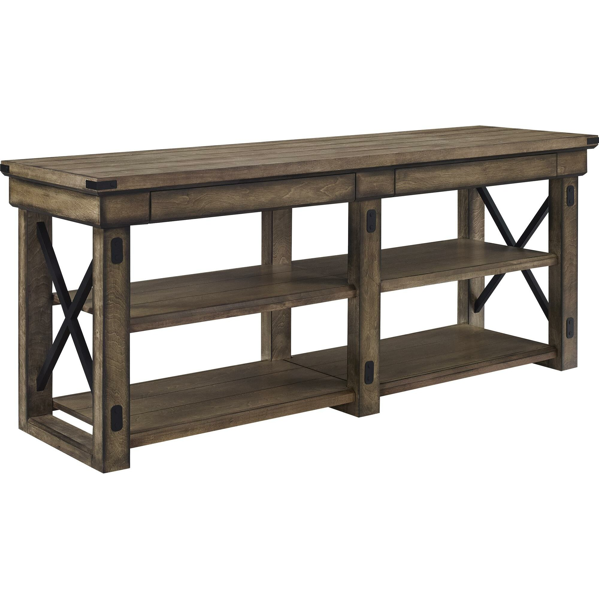 August grove irwin rustic wood tv stand reviews wayfair Rustic tv stands